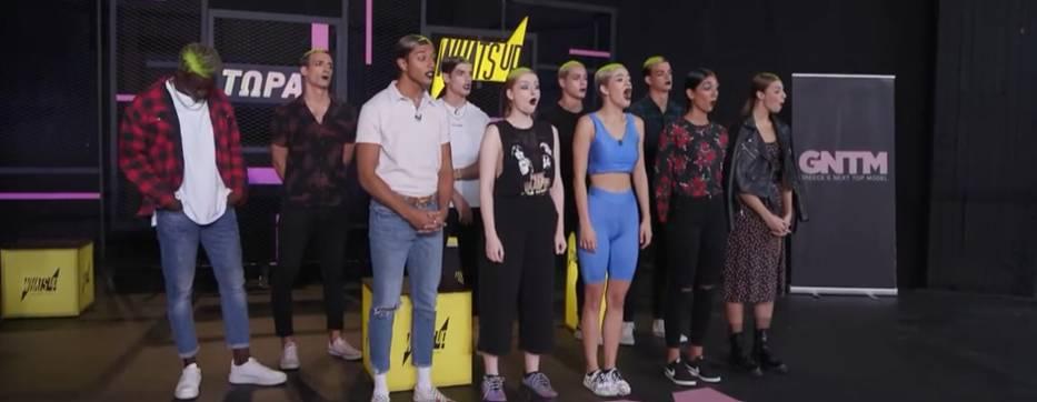 οι διαγωνιζόμενοι του gntm κατά τη διάρκεια της δοκιμασίας