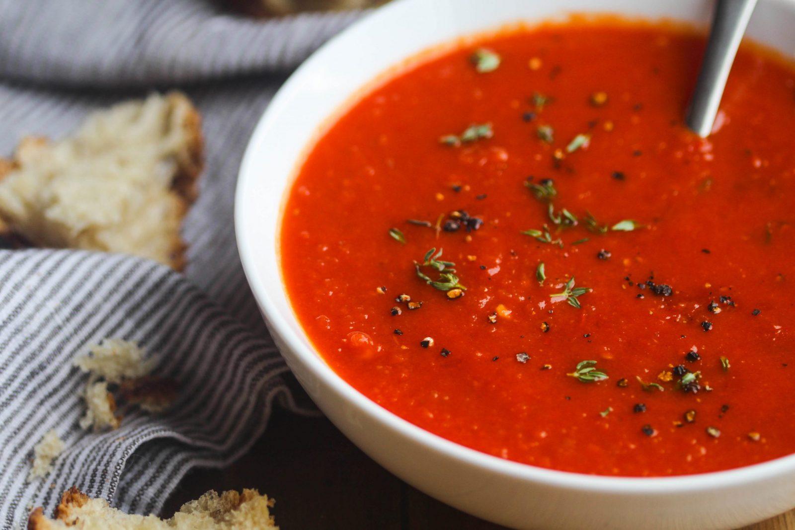 σούπα ντομάτας πλούσια σε αντιοξειδωτικά