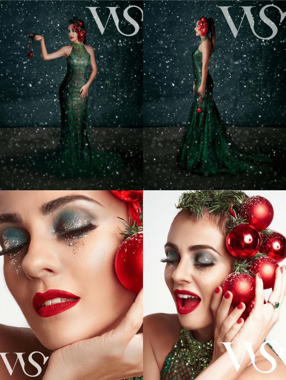 αγγελική δαλιάνη ως χριστουγεννιάτικο δέντρο