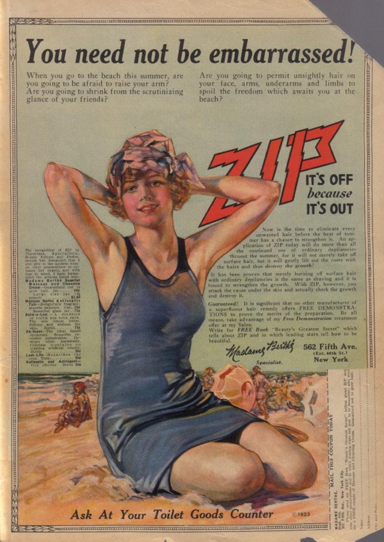 διαφήμιση για γυναικείο ξύρισμα