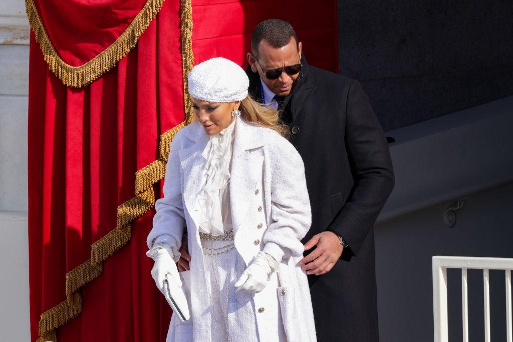 Η Jennifer Lopez κατά την αποχώρησή της από την ορκωμοσία