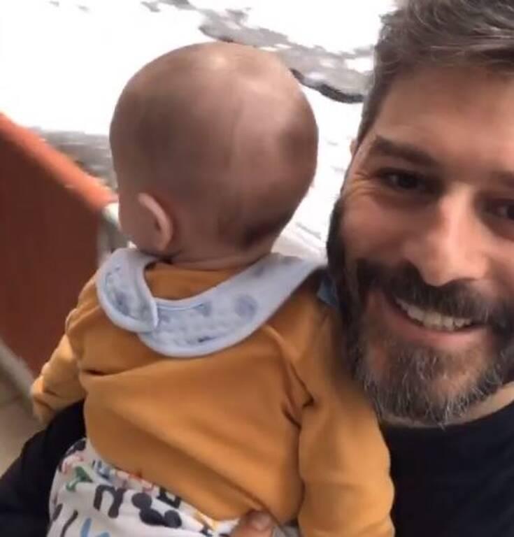 Ο Αλέξανδρος Μπορδούμης με τον γιο του
