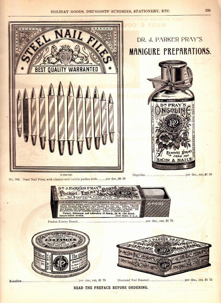 Διαφήμιση των προϊόντων μανικιούρ που έφτιαχνε η Mary E. Cobb μαζί με τον σύζυγό της