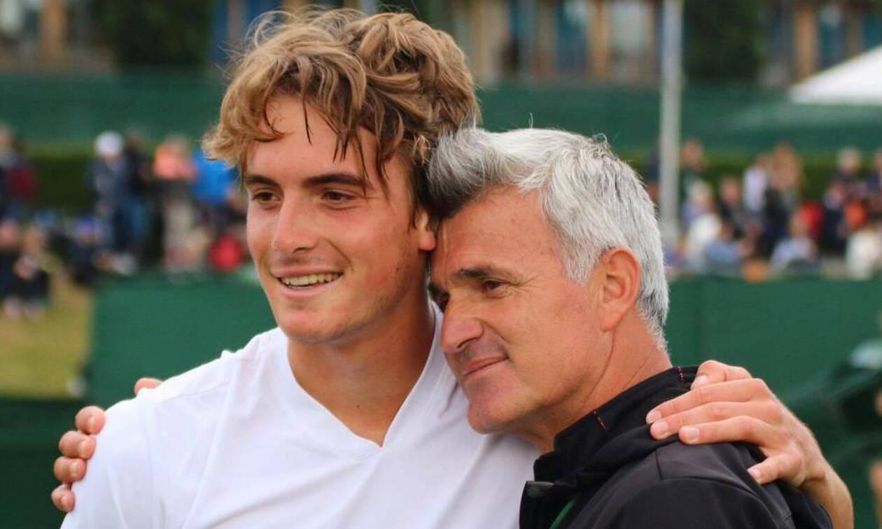 Ο Στέφανος Τσιτσιπάς με τον πατέρα του