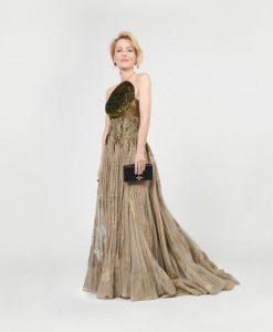 H Gilian Anderson με Dior