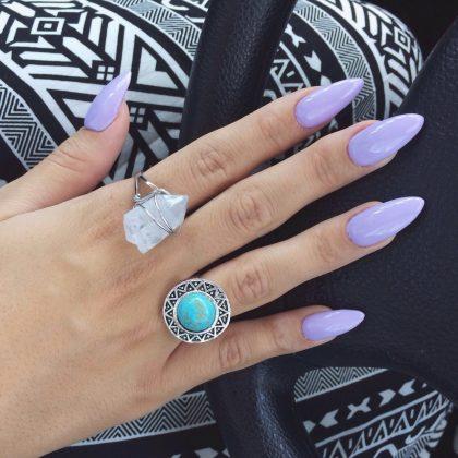 lilac nalis σε μακριά νύχια