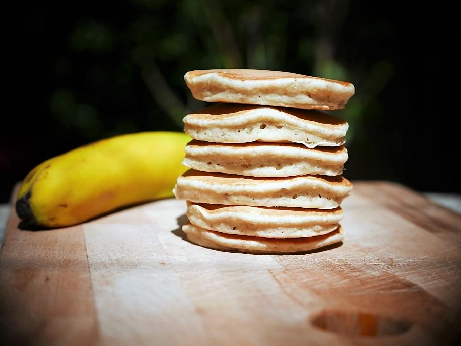 pancakes με μπανάν